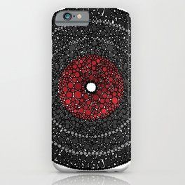 Put Your (Red) Record On - Abstract iPhone Case