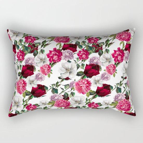 Fashion Floral Pattern Rectangular Pillow