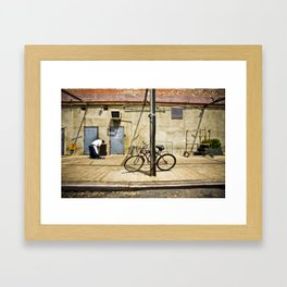 Meat Packers Framed Art Print