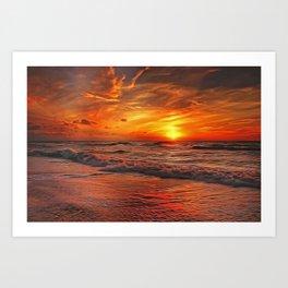 Sunset Ocean Dance Art Print