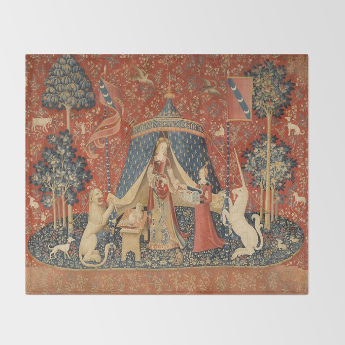 The Lady And The Unicorn Throw Blanket