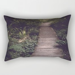 Pacific Northwest Forest Trail Rectangular Pillow