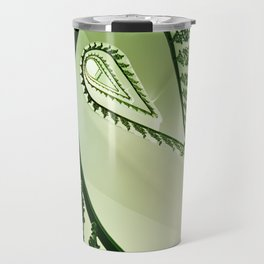 Beautiful staircase in green Travel Mug