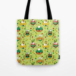 Monster Mash Green Tote Bag