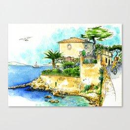 Villa on the Côte d'Azur - Cap d'Antibes Canvas Print