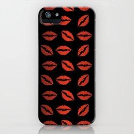 Lips Pattern Kiss Pattern #society6 #decor #buyart #artprint iPhone Case