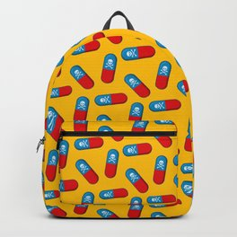 Deadly but Colorful. Pills Pattern Backpack