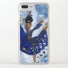 Misty Ballerina Clear iPhone Case