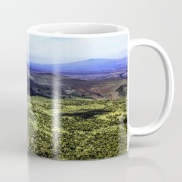 Mountain Peak Covered in Green Trees and Grasses on the Edge of the African Savannah of the Masai Mara National Reserve in Kenya Coffee Mug