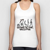evolution Tank Tops featuring EVOLUTION by AURA-HYSTERICA