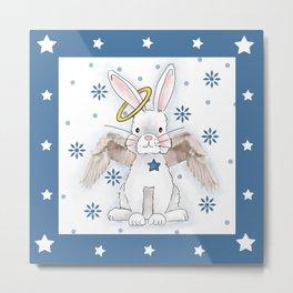 Angel Bunny Metal Print