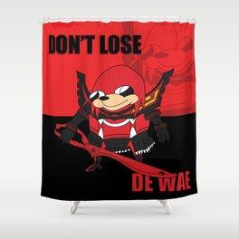 Don't Lose De Wae Shower Curtain