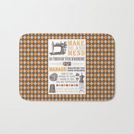 Make Do and Mend | Thrifty Fashion | WWII British Ministry of Information | Bath Mat