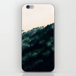 Watercolour Green Fog Forrest iPhone Skin