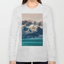 Scenic Alaskan nature landscape wilderness at sunset. Melting glacier caps. Long Sleeve T-shirt