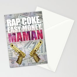 Coke, easy money, maman Stationery Cards