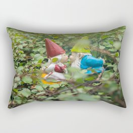 Kissing gnomes - Garden Gnome Photography Rectangular Pillow