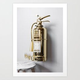 In Case Of Emergency - Champagne Extinguisher - Luxury Edition Art Print