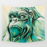 gorilla Wall Tapestries featuring Gorilla by Todd Huffine