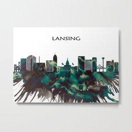 Lansing Skyline Metal Print
