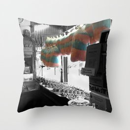 Coney Island Candy Store Cotton Candy photography Throw Pillow
