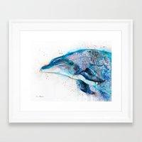 dolphin Framed Art Prints featuring Dolphin  by Slaveika Aladjova