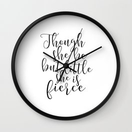 Printable Art,Shakespeare Quote,Nursery Decor,Girly,Nursery Girls,Gift For Her,Quote Prints Wall Clock