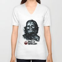 che V-neck T-shirts featuring CHE-wbacca by Carlos Rocafort