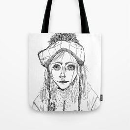 Snow Sleet Sad Tote Bag