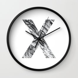 The Letter X- Stone Texture Wall Clock
