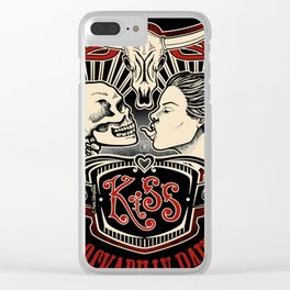 SKULL KISS Clear iPhone Case