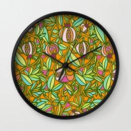 Pomegranate Vine Wall Clock