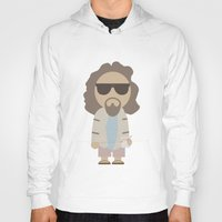 the big lebowski Hoodies featuring THE DUDE - Big Lebowski by Moose Art