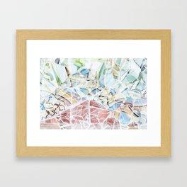 Mosaic of Barcelona XVI Framed Art Print