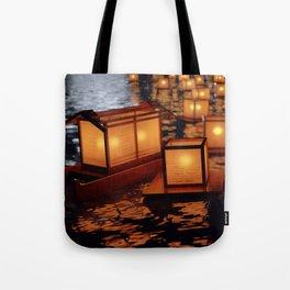 Japanese floating lantern Tote Bag
