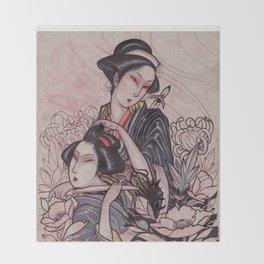 Murderous Geisha Throw Blanket