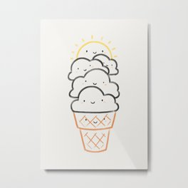 Everyday is like Sundae Metal Print
