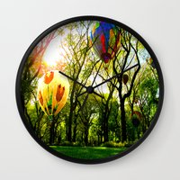 central park Wall Clocks featuring Central Park by kpatron