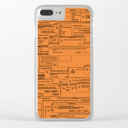 Designer Dialogues AI Yellow Clear iPhone Case