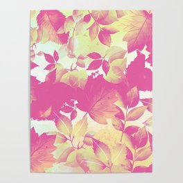 Watercolor Autumn Leaves 7 Poster