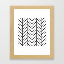 Herringbone White Framed Art Print
