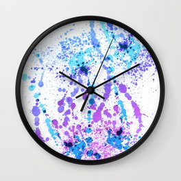 Bad Berry - Abstract Splatter Style Wall Clock