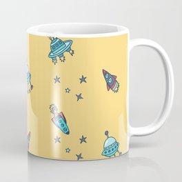 Boys Galaxy Rocket Space Coffee Mug