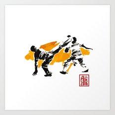 Capoeira 1018 Art Print