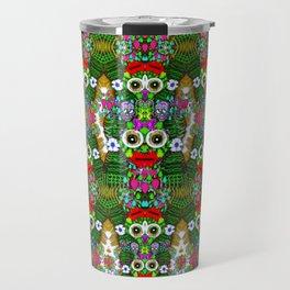 sugarskulls flower girls and love pop art Travel Mug