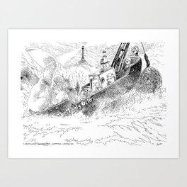 Le Chalutier en Péril / The Trawler in Distress Art Print