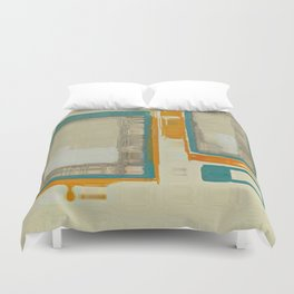 Mid Century Modern Blurred Abstract Duvet Cover