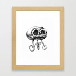 MANTLE skull Framed Art Print