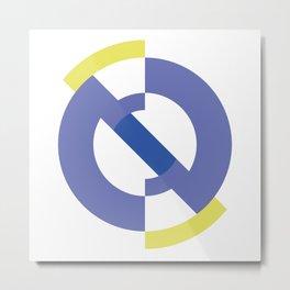 Geometric blue purple modern Metal Print