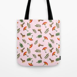 Positive mushrooms pattern Tote Bag